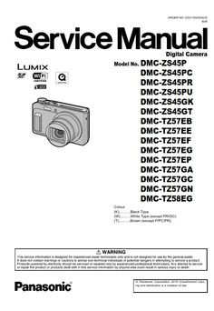 Panasonic Lumix DMC ZS40 TZ60 TZ61 Digital Camera Service