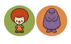 https://flic.kr/p/avVqPA   Kawaii McDonaldland   It's a kawaii Ronald re-do. My kawaii take on Ronald McDonald and Grimace.