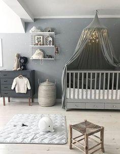 Relooking et décoration 2017 / 2018   COCOON chambre design bycocoon.com | inspiration de conception de chambre à coucher | chambre de bébé grise