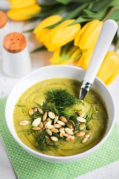 MniuMniu - Kuchnia roślinna: ZUPA KREM Z CUKINII Cookbook Shelf, Mango Sticky Rice, Kitchen Plants, Meal Planning, Vegetarian Recipes, Healthy Eating, Menu, Soup, Vegan