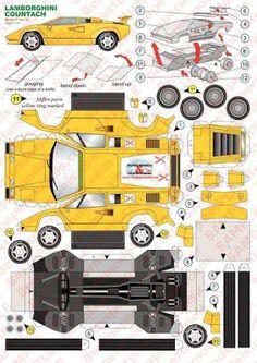 Paper Model Car, Paper Car, Paper Plane, Paper Models, Cardboard Model, Cardboard Toys, Paper Toys, Paper Crafts Origami, Diy Paper