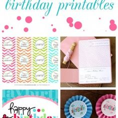15 free birthday printables featured on iheartnaptime.com #party #birthday #decor