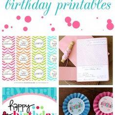 15 free birthday printables #printables