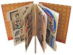 great art/journal book...using regular folders as pages!
