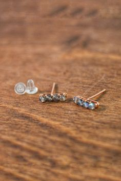nickel free earrings cute plastic studs sterling silver post earrings dark beige earrings modern facet earrings Beige hexagon studs