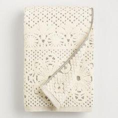 One of my favorite discoveries at WorldMarket.com: Lattice Sculpted Bath Towel