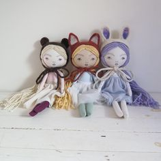 Good morning! I apologize for the delay, I was having some technical issues, but bear, fox, and bunny spirit girls will be listed in just a few minutes!  EDIT: Holy Cow! I am without words... All dolls sold faster than I could have imagined. I am blown away by your support! Thank you!! If you were hoping for a doll, there will be more in the near future. If you got a doll today, please feel free to comment below. I like to know who my buyers are and now that I'm selling through my website…