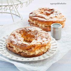 supergolden bakes: Mini Paris-Brest - crisp choux pastry filled with praline cream.
