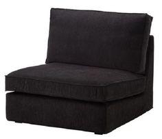 NEW Ikea Kivik One Seat Section Cover Tranås Tranas Black Slipcover 701.936.89 #IKEA #Contemporary