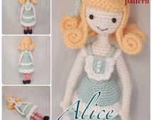 PDF - Alice in Wonderland amigurumi doll crochet pattern