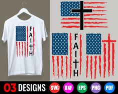 Usa Flag, Sara Ellis, American Flag, Cross Flag, Paint Line, Faith, Christian Shirts, Svg File, Pdf