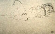 """muerte-arabe: """" Gustav Klimt, drawings """""""