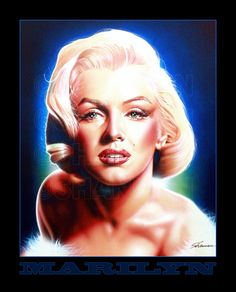 SHANNON loves to get commissions to paint Marilyn Monroe. This one hangs in the Artcetera Gallery in Las Vegas, NV.