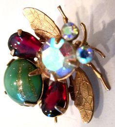 Vintage Bee/ Insect / Fly / Pin/ Brooch by MISSVINTAGE5000 on Etsy, $45.00