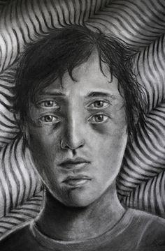 Sebastian Eriksson tiene 18 años y ha utilizado el arte como arma para curar sus extremos sentimientos.