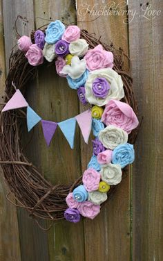 Spring Grapevine Wreath {Tutorial}
