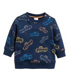 Sweater | Donkerblauw/auto's | Kinderen | H&M NL