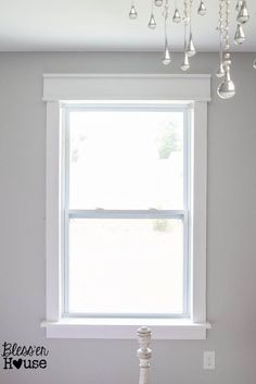 DIY Window Trim - The Easy Way   Bless'er House - I want to trim all the windows in our entire house like this!