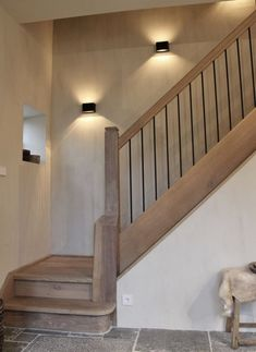 53 New ideas for house entrance staircase Modern Entrance, House Entrance, Entrance Ideas, House Staircase, Staircase Design, Interior Stairs, Home Interior Design, Stairway Lighting, Rustic Stairs