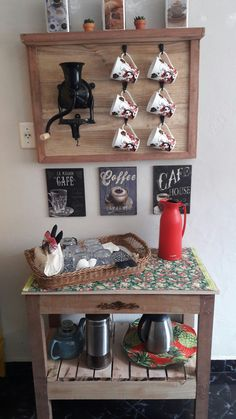 Simple, but very functional coffee bar