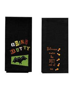 Take a look at this Spooky Kitchen Towel Set by Split P on #zulily today!