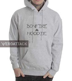 bonfire hoodie grey color Hoodie