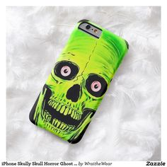 iPhone Skully Skull Horror Ghost Skull Barely There iPhone 6 Case by Wraithe Designs.