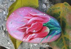 Купить Тюльпаны. - роспись по камню, натуральные камни, сувениры и подарки, сувенир, ручная работа