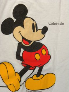1980s  80s T shirt / Vintage / Mickey Mouse T shirt / by JEWVENCHY