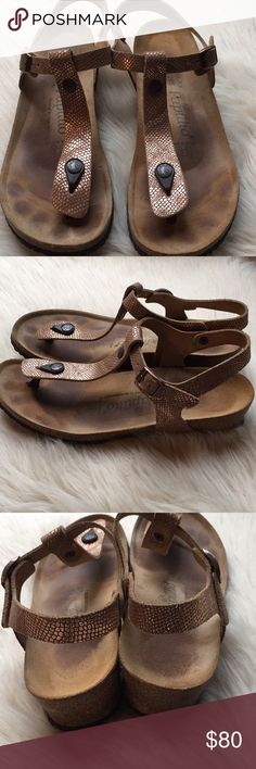 52e32af5ba26d3 Papillio Birkenstock Sandals Beautiful Rose Gold colored Birkenstock sandals  with very light signs of use.