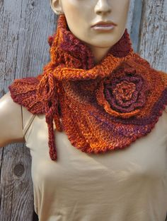 Hey, I found this really awesome Etsy listing at https://www.etsy.com/listing/239792101/crochet-scarf-freeform-roses-capelet