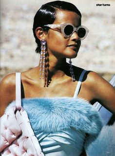 'Star Turns' from Vogue December 1989 feat Nadege du Bospertus