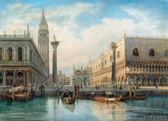 COMMUNITY ARTISTICA CULTURALE Google+INVITO in Allegato: ARNOLDO CORRODI Figlio e Pittore di HERMAN DAVID SALOMON CORRODI -Foto-Dipinto: La Piazza San Marco, Venice