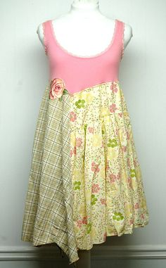 Large Hippie Boho Chic Pink Summer Dress Funky Artsy Long