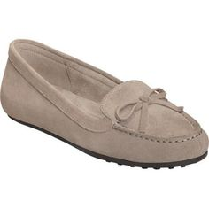 Women's Aerosoles Long Drive Moccasin Loafer Grey Suede (US Women's 9.5 W  (Wide))