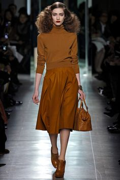 Bottega Veneta AW13.  Every single piece is beautiful.  Every single piece is wearable.  Also, the hair was my favourite from the runway for the season.
