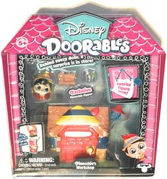Disney Doorables Mini Playset - Series 1 - Pinocchio's Workshop description is coming soon Kids Toys For Christmas, Baby Disney Characters, Minnie Mouse Toys, Wooden Puppet, Creative Bookmarks, Diy Barbie Furniture, Moose Toys, Baby Doll Accessories, Pumpkin Art