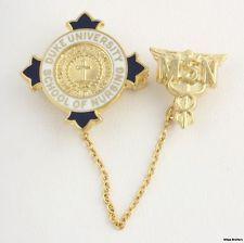 Duke University School of Nursing Badge Pin - 14k Solid Yellow Gold MSN 4.7g A+