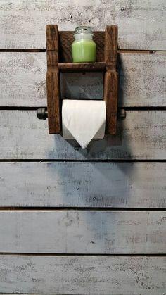 Carta igienica rustico in legno titolare carta igienica