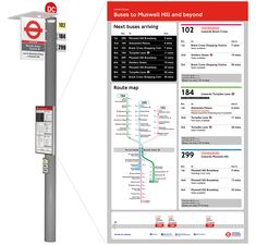London bus stop redesign Park Signage, Wayfinding Signage, Signage Design, Transport Public, Transport Map, London Bus, Infographic Tools, Bus Stop Design, National Rail