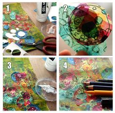 Creating a collage using tissue papers