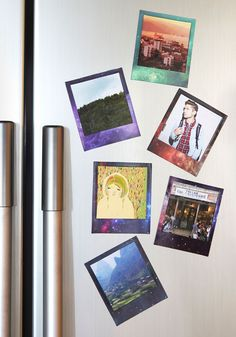 Frame it Like a Planetoid Picture Magnet Set. Display your favorite photos in nebular style with these magnetic frames! #multi #modcloth