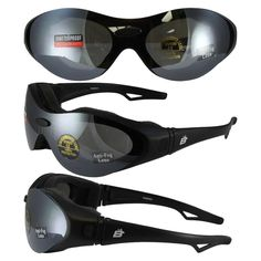 8dea141bb39 Birdz Phoenix Padded Glasses Convert to Goggles and Three Lens Kit (Clear