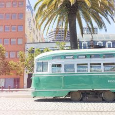 Old-Fashioned San Francisco Muni Car in Teal // via emthegem