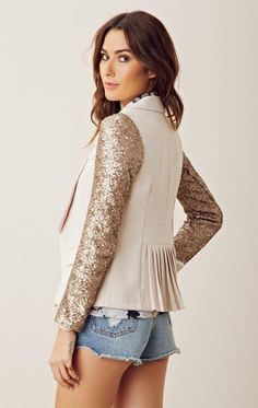 Love the #sequin sleeves on this blazer!