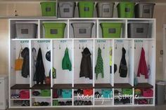 Add extra storage with these DIY garage mudroom lockers.