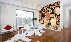 Sawn Timber Log Photo Wallpaper Wall Mural, Office, Kitchen, Bedroom, Living…