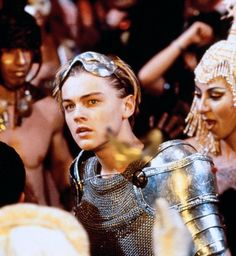 """Leonardo DiCaprio portrays the character of Romeo Montague in Baz Luhrmann's adaptation of """"Romeo + Juliet""""......."""