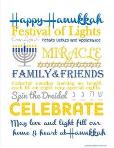 Happy Hanukkah! Free Subway Art Printable   Quite the Occasion
