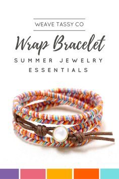 Summer Wrap Bracelet by @WeaveTassyCo   This rainbow bracelet is made using fishtail / mermaid knot. It's a classic braided bracelet that will suit a lot of style. This thread bracelet will surely bring a pop of color to your outfit. You can wear this separately or pair it up with other stackable bracelets. You can also give it as a gift to a friend. This hippie bracelet is also available in other color combinations. Click to see more.
